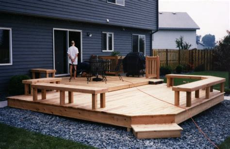 small backyard deck designs cedar multi level patio deck