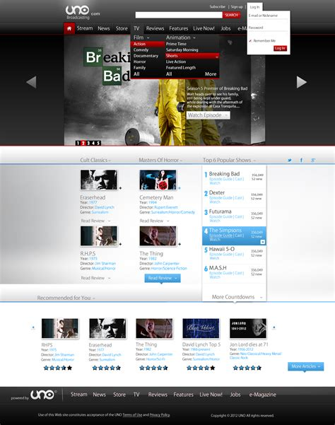 templates for review website dark red gray and blue tv web template review etc by