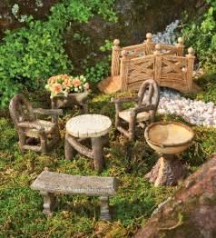 woodland fairy garden resin furniture set garden fairies