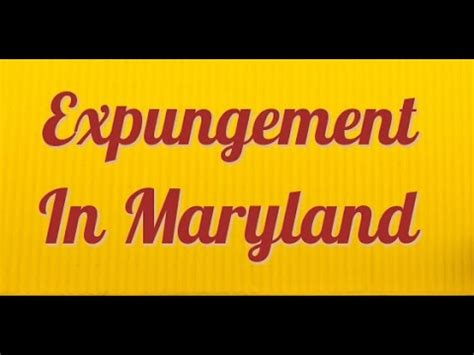 Md Search Expungement Maryland Expungement Explained By Expungement Lawyer 2018