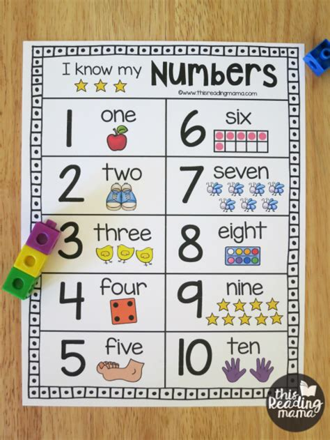 printable numbers chart 1 10 printable number chart for numbers 1 20 this reading mama