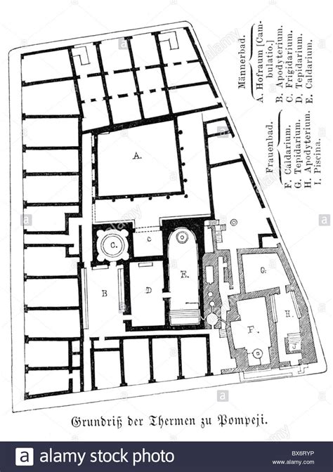 Pompeii House Plan Architecture Floor Plans Thermae In Pompeii 1st Century Stock Luxamcc