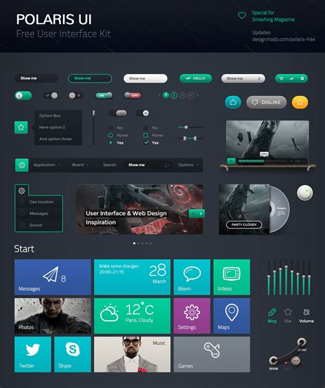 ui layout polaris ui free user interface pack designmodo