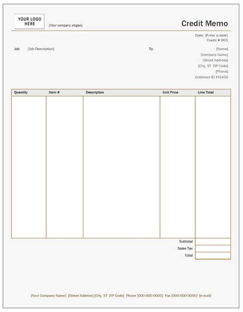 Memo Note Template Free Credit Note Templates Invoiceberry