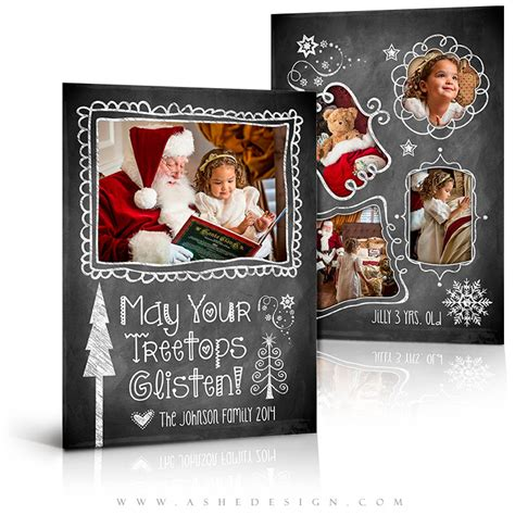 Photoshop Card Templates Etsy by Card Design Chalkboard Doodle Frames 5x7