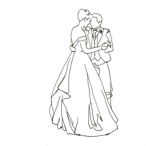 Hochzeit Zeichnung by Personalised Wedding Drawing By Lines