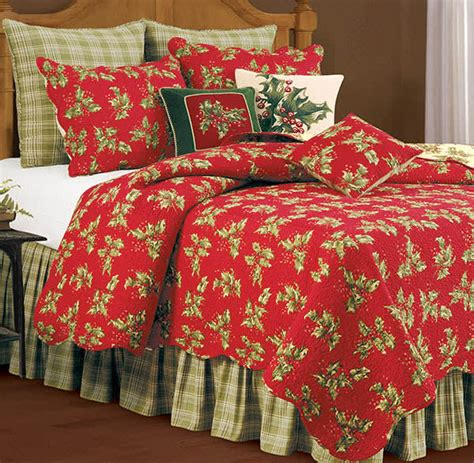 red quilt bedding holly red quilt