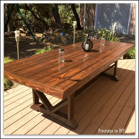 diy large outdoor dining table pinspired  diy