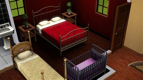 Kasur Bed No 4 mod the sims tiny house 3 4 beds 1 5 bath no cc