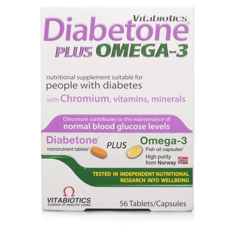 Diabetone Multivitamin Mineral vitabiotics diabetone plus omega 3 tablets 56 s chemist direct