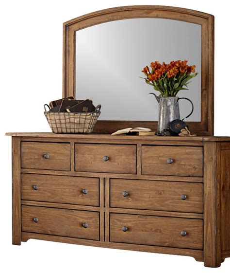 7 drawer dresser and mirror solid wood construction in