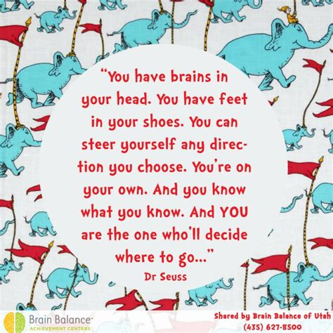 re brains you have brains in your head you have feet in your shoes