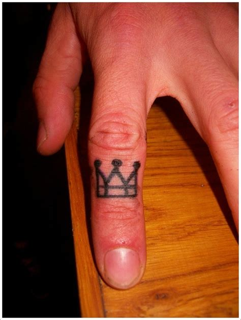King Crown Tattoo On Finger | crown tattoo on finger busbones