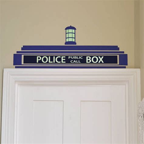 Tardis Door Decal by Box Wall Sticker