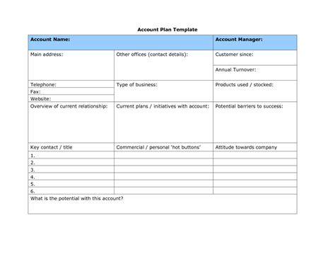 client management template account planning template 2014freerun5