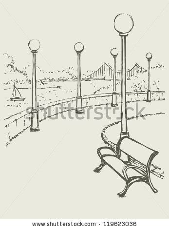 park bench drawing park bench sketch google search park sketches