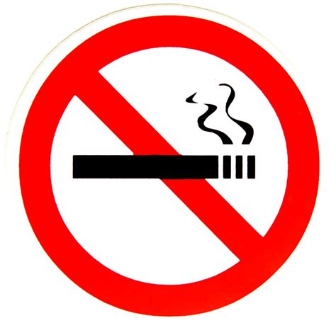 no smoking sign with picture no smoking sign sticker for helmets