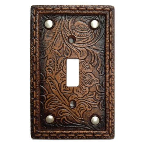tooled western decorative switch wall plate single switch - Decorative Switch Wall Plates