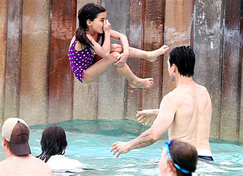 Tom And Throw A Tea For Suri by Tom Cruise Goes Shirtless At Disney Water Park With Suri