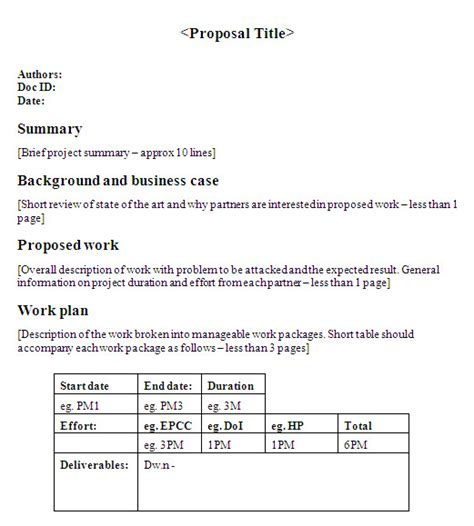 one page research proposal sle