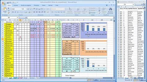elaboracion de un registro automatico en excel parte 2 planilla calificaciones mp4 youtube