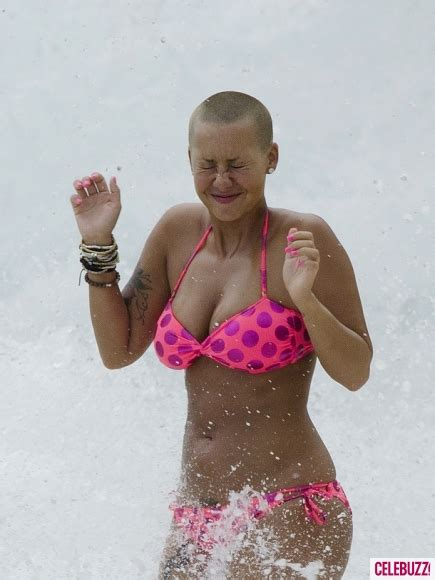 nsfw amber rose goes topless in barbados shows off her amber rose shows her fatty while frolicking topless in