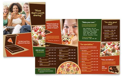 pizza menu template word pizza pizzeria restaurant menu template word publisher