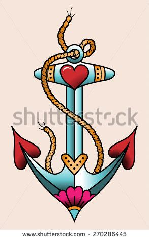 anchor tattoo stock images royalty free images amp vectors