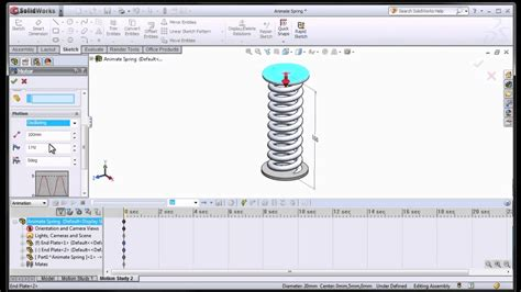 solidworks tutorial how to animate a 6 dof degrees of solidworks animating a spring youtube