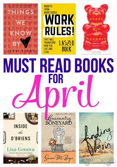 7 Must Read Books For by Must Read Books For April Bradford
