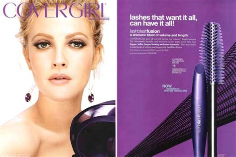 Drew Barrymore Signs Major Caign With Covergirl Cosmetics by Feb 2011 Fashion Magazine Endorsement