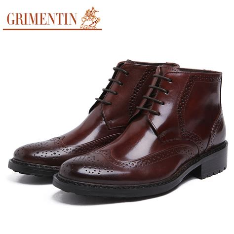 quality mens boots grimentin brand top quality mens ankle boots genuine