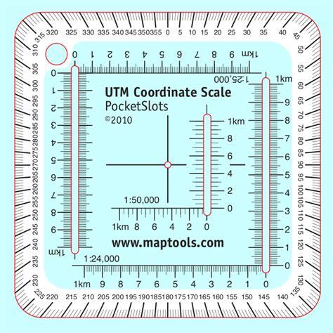 printable utm ruler maptools product pocket sized utm slot tool degrees