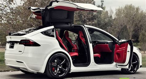 Canada Home Decor by Custom Tesla Model X With Bentley Red Interior Selling For