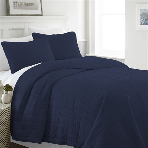 navy quilted coverlet wholesale soft essentials premium ultra soft square