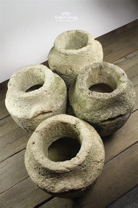 large reconstituted stone urns planters