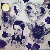 Wednesday Addams Drawing   500 x 500 jpeg 83kB