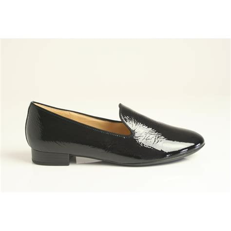 gabor flat shoes gabor abalina black soft patent leather 71 100 97 gabor