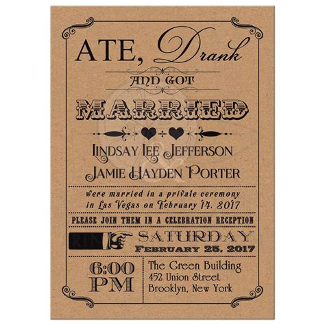 wedding invitation paper johannesburg post wedding invitation vintage poster scrolls kraft paper look