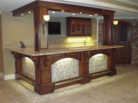 Basement Bar | custom basement pictures