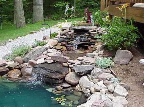 pond waterfall design ideas pool design ideas