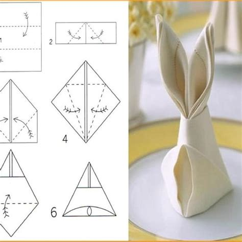 Easy Origami Napkins - 17 best images about napkin folds on