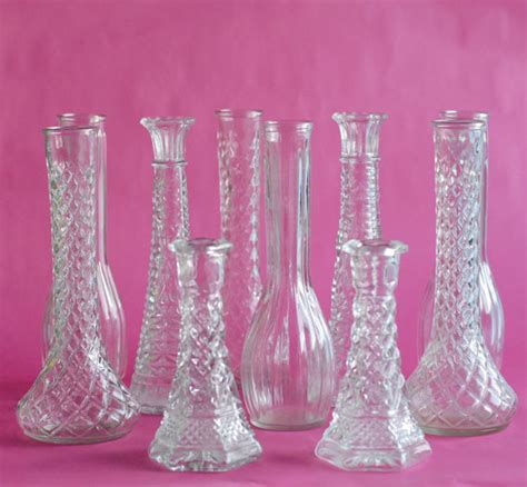 Vintage Bud Vase clear glass vintage 20 bud vase collection 9 bud