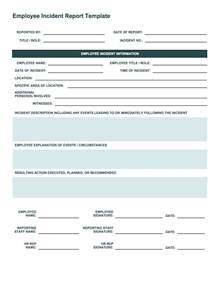 workplace incident report form template free incident report templates smartsheet