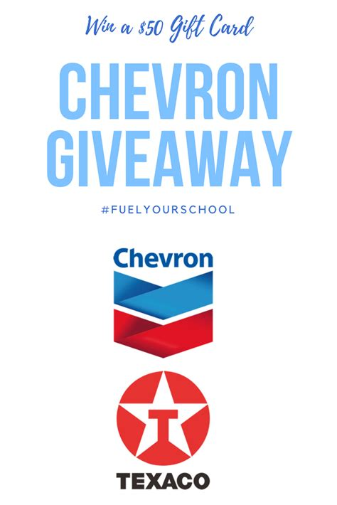 Chevron Gas Gift Card - mommy blog expert fuel your school kids education by filling up at chevron or texaco