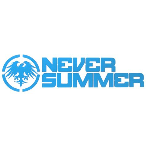 Never Summer Stickers never summer 12 quot corporate logo die cut sticker evo