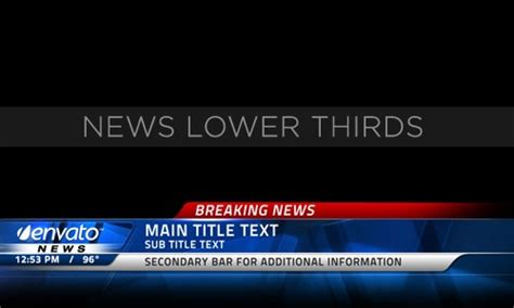 Breaking News 20 After Effects News Templates News Broadcast Template