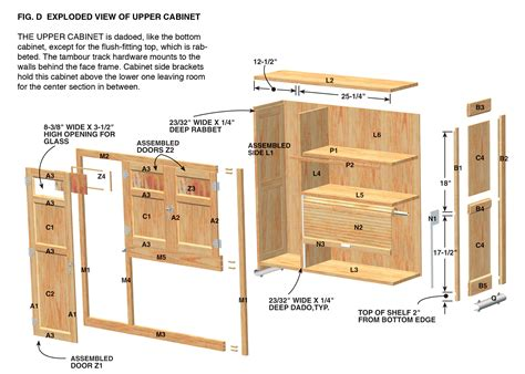 kitchen cabinet drawings cabinet plan wood for woodworking projects shed plans