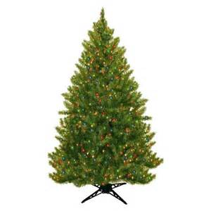 6 5 ft pre lit wintergreen fir artificial christmas tree