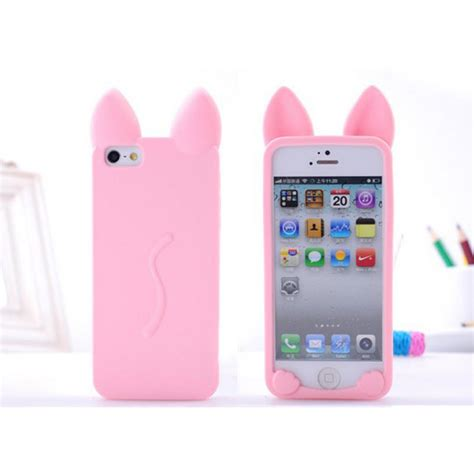 Iphone 6 Plus Soft 3d Cat Ears Sarung Casing cat ears phone cases for iphone 5 5s 6 6s 6plus 7 7s 7plus soft clear tpu silicon ultra